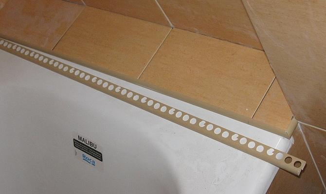 Заделка шелей с помощью плитки