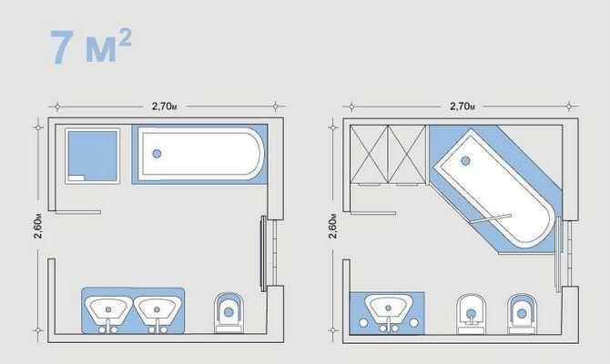 Планы ванной размером 7 кв м