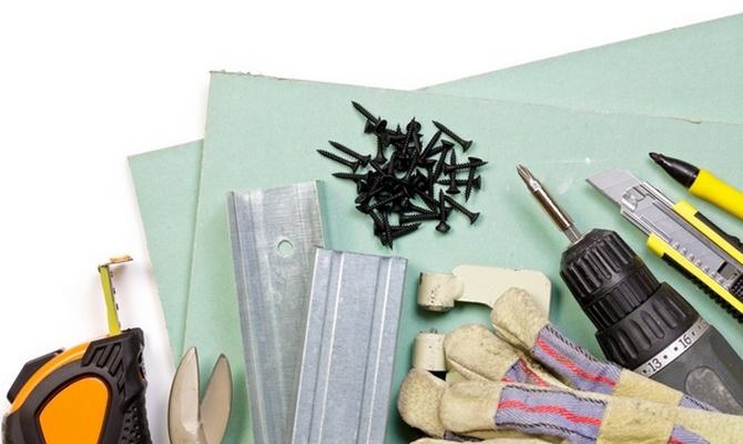 Инструменты для обшивки гипсокартоном