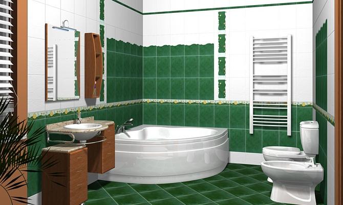 Готовый проект ванной комнаты