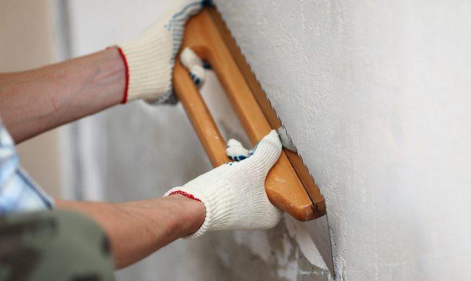 Подготовка стен к оклейке пленкой