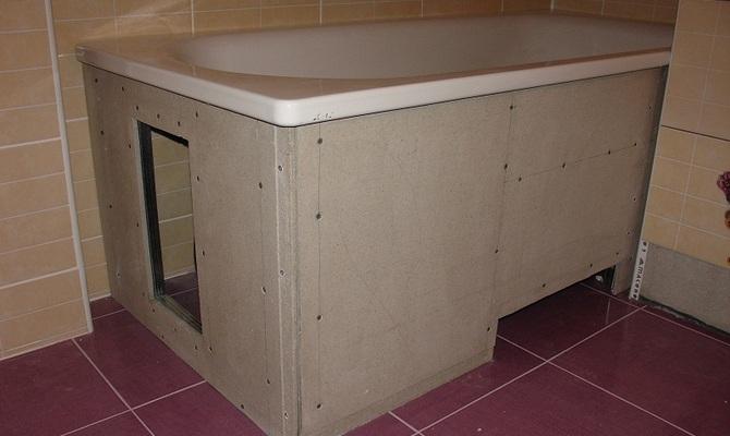 Каркас для ванны, сделанный своими руками