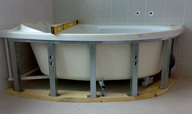 Каркас для угловой ванны