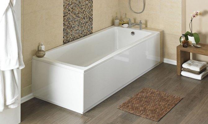 Стильная акриловая ванна