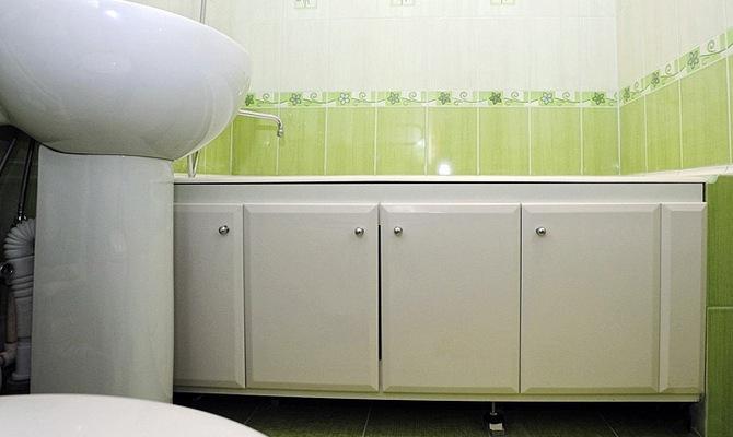 Экран для ванны после установки
