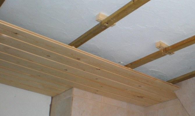 Монтаж обрешетки для потолка