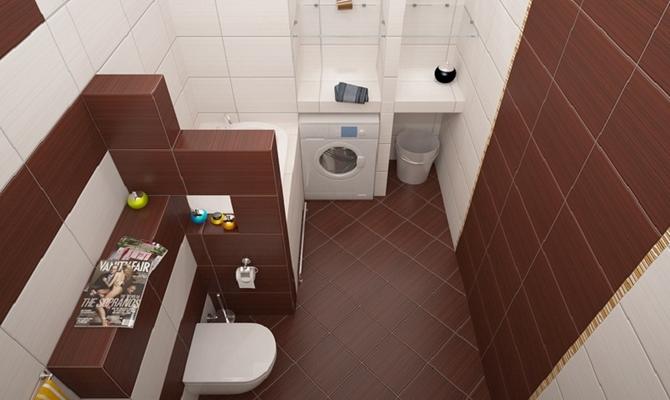 Дизайн ванной - правильное зонирование комнаты
