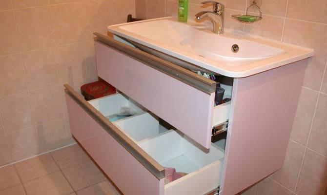 Функциональная тумба под ванной