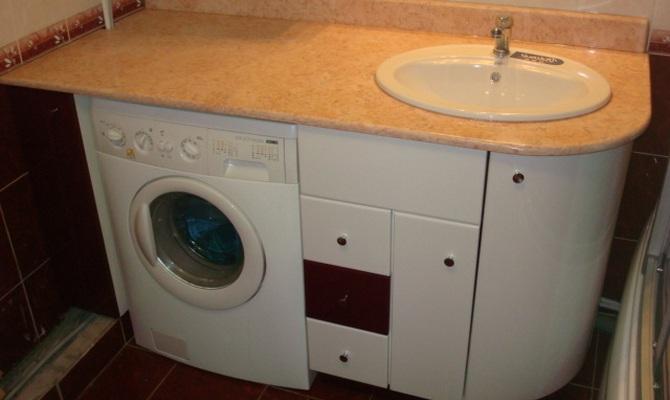 Установка стиральной машины в маленькой ванной