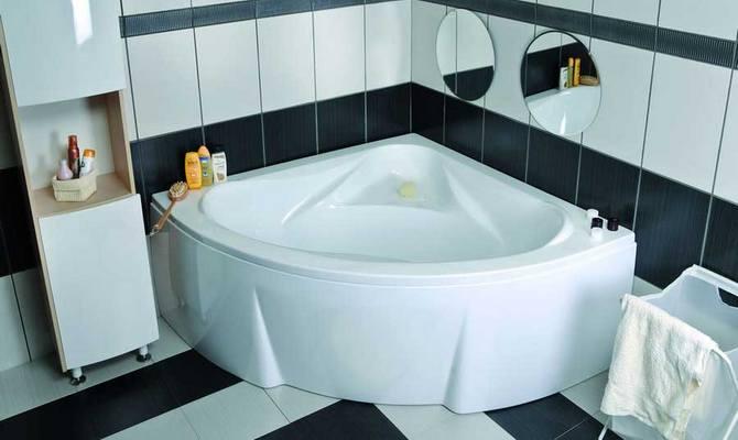 Стильная угловая акриловая ванна