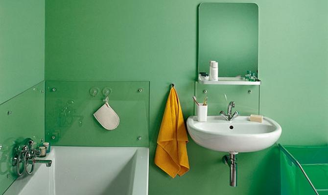 Комната, выкрашенная вододисперсионной краской