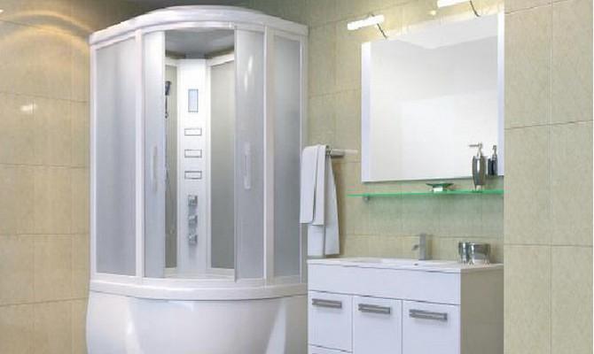 Акриловая ванна с душевой