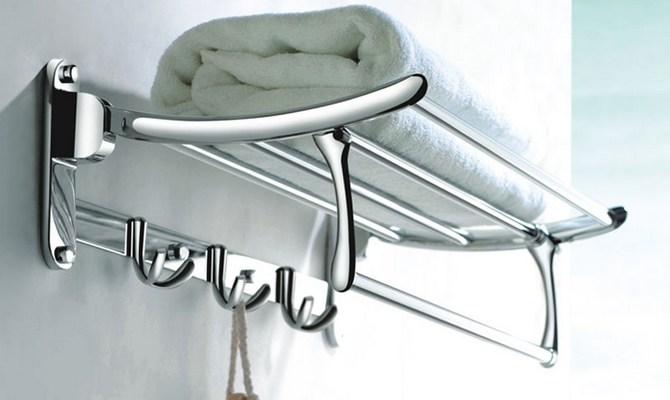 Полочка в ванную для полотенец