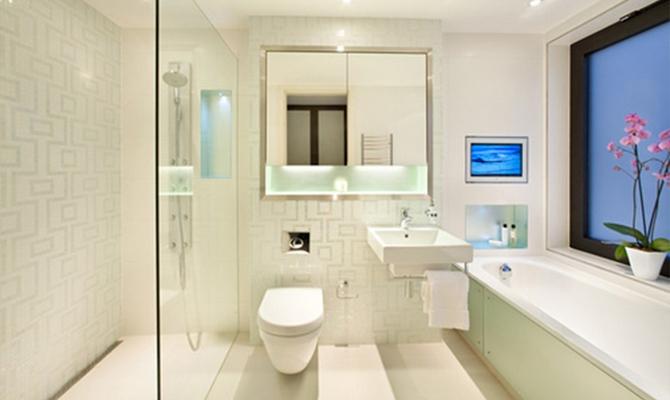 Использование точечных светильников в ванной