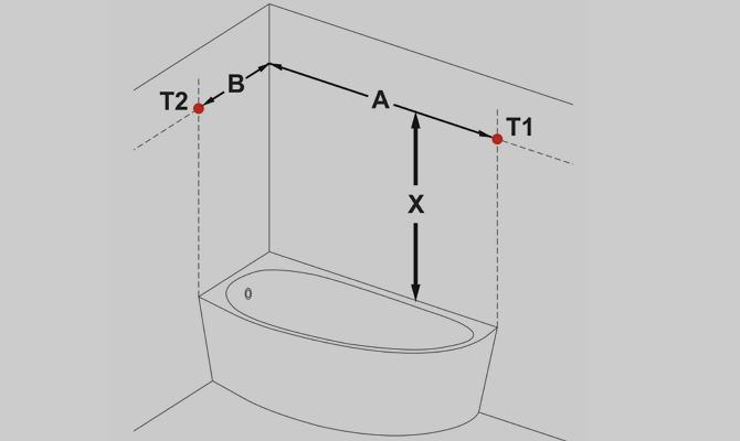 Как установить штангу в ванной?