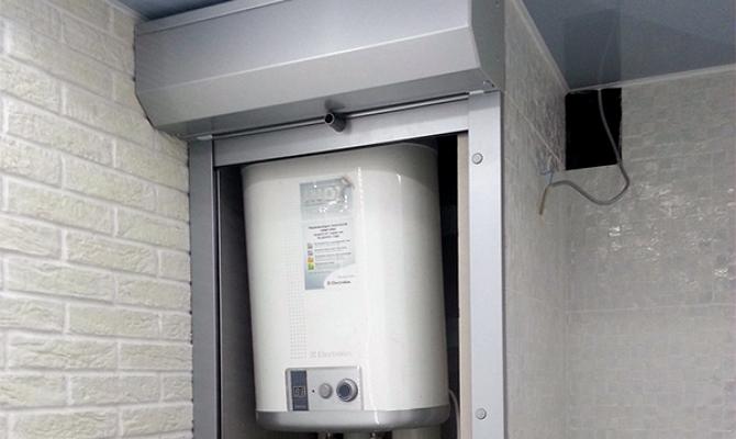 Установка электрического нагревателя