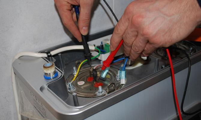 Проверка водонагревательного агрегата