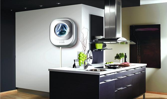 Основные характеристики настенной стиральной машины фото