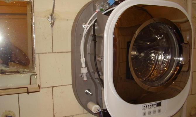 Монтаж настенной стиральной машины