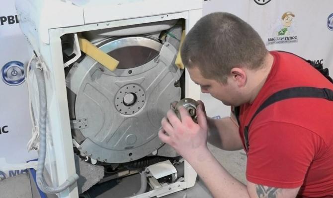 Замена подшипника стиральной машины бош своими руками видео