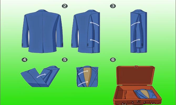 Вариант без выворачивания пиджака