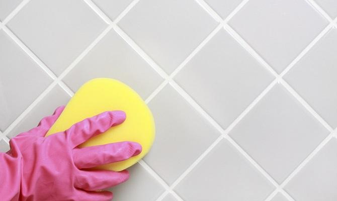 Чем отмыть плитку