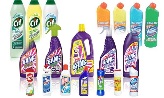 Специализированные средства по очистке сантехники