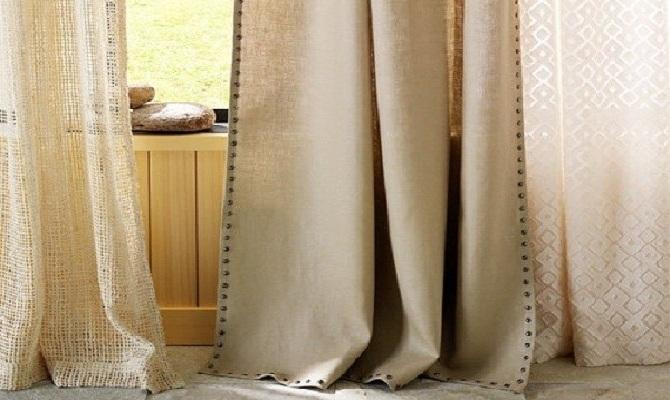Правила глажки хлопкового и льняного тюля