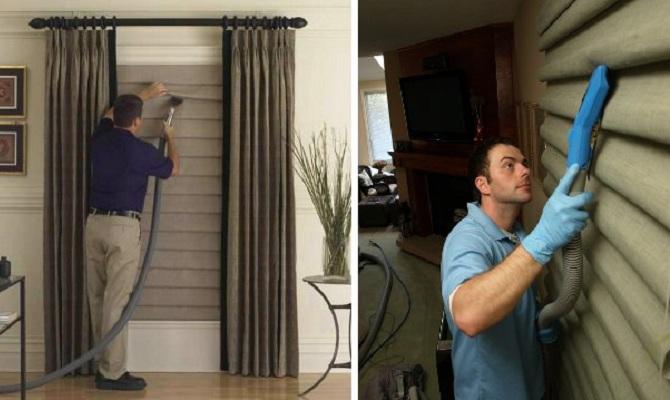 Как чистить рулонные шторы