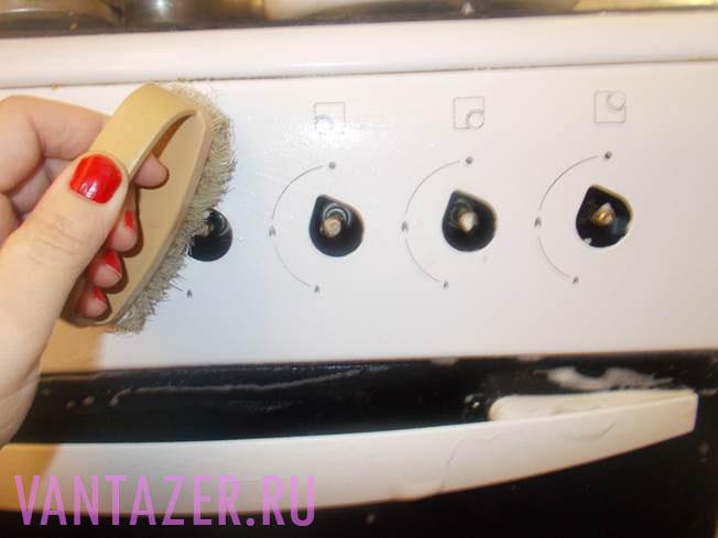Как отмыть от жира ручки газовой плиты