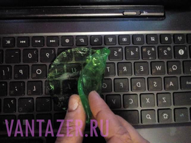 Как почистить кнопки клавиатуры?