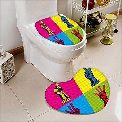 Ванная комната в стиле поп-арт